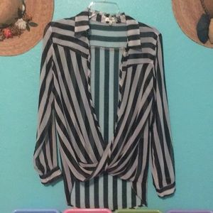 Tops - Stylish sheer blouse